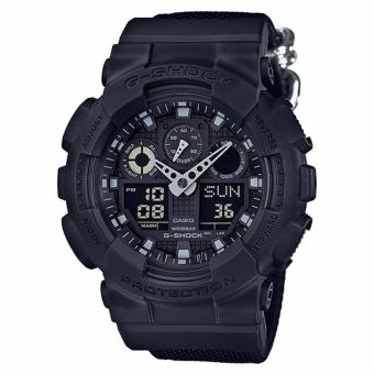 Casio G-Shock Special Color Models Black Cordura(R)* Nylon Strap Watch GA100BBN-1A