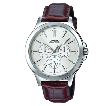 Casio Men's Standard Analog Brown Leather Strap Watch MTPV300L-7A MTP-V300L-7A