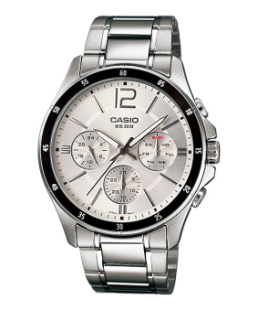 Casio Men's Stainless Steel Strap Watch MTP1374D-7A