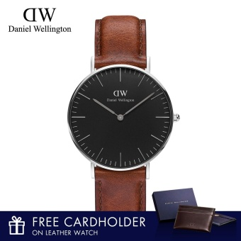 Daniel Wellington Classic Black St Mawes 36mm Watch With Free Cardholder