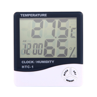 Digital LCD Hygrometer Thermometer Alarm Clock 3 In 1(Charger Included)