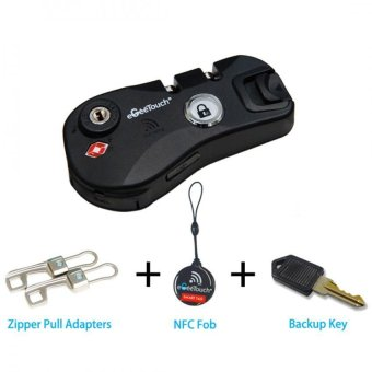 eGeeTouch® Smart NFC Luggage Zipper Lock Module, with Multiple Access Methods, Access Tracing, etc (Black)