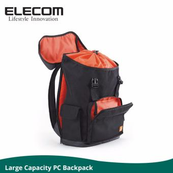 Elecom BP02 Large Capacity Travel/ Laptop/ Business Backpack - Black
