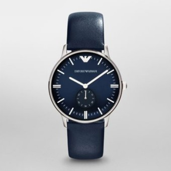 Emporio Armani AR1647 Classic Blue Leather Band Watch