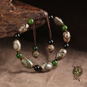 Female three eye beads Tibetan bracelet Nepal jewelry bracelets