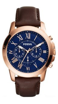 Fossil Grant Chronograph Brown Leather Watch FS5068