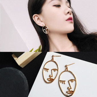 INS exaggerated style earrings