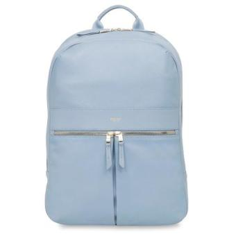 "Knomo Beaux 14"" Leather Backpack (Lido Blue) 