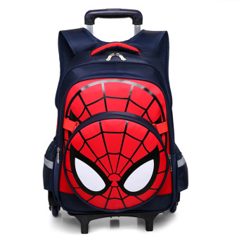 Korean-style burden relieving wheel climb stairs children's backpack trolley school bag