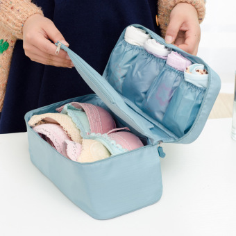 Korean-style travel portable and convenient storage bag bra pouch