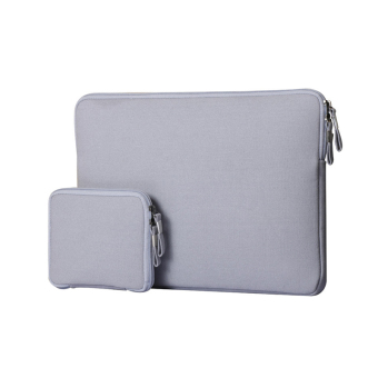 Laptop Notebook Sleeve Case Sailcloth Bag Cover for MacBook Pro15.4 inch (Grey)