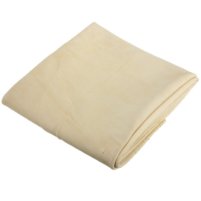 Microfiber Cloth Or Chamois: 45*75 Large Natural Car Chamois Leather Drying Towel