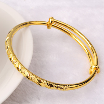 Ms. 24k gold jewelry Plated Gold does not fade bracelet