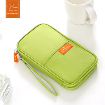 Multi-functional documents storage bag ticket clip card holder passport bag