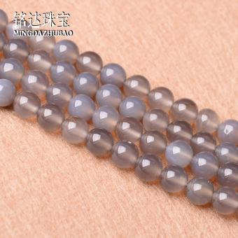 Natural gray agate loose beads