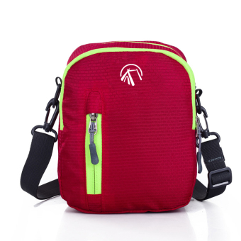 Outdoor red waterproof nylon travel messenger bag small bag sports shoulder bag