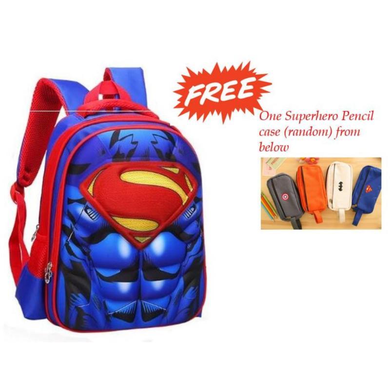 PreSchool Kindergarten Superhero 3D Backpack School Bag