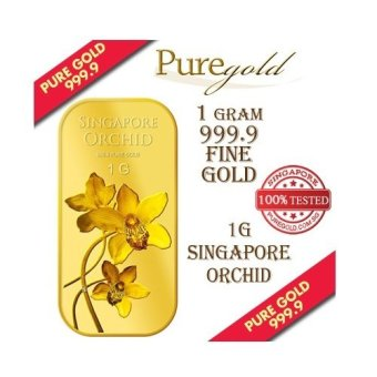 Puregold Singapore Orchid (SERIES 2) Gold Bar 1g.