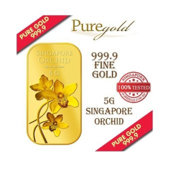 Puregold Singapore Orchid (SERIES 2) Gold Bar 5g.