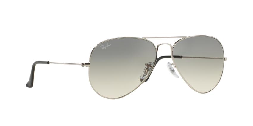 Ray ban aviator 3025 silver crystal gray mirror for Ray ban aviator miroir