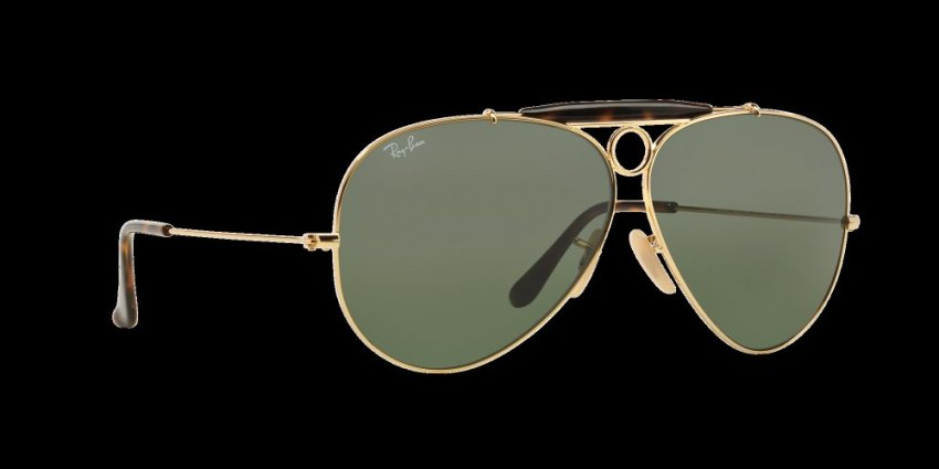 ray ban clubmaster lenses 890g  RAY-BAN SHOOTER CRYSTAL GREEN Lenses RB3138 181 MAN