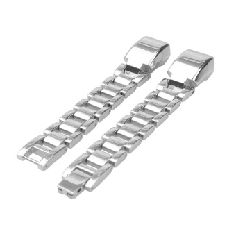 Replacement Stainless Steel Strap Band Bracelet for Fitbit Alta(Silver) - intl