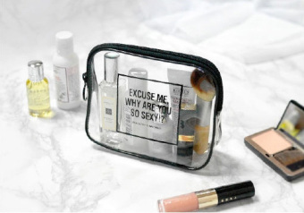 Simple transparent travel waterproof wash bag cosmetic bag