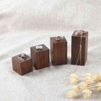 Solid Wood black walnut jewelry display bracelet holder