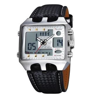 Sports Watches Men Analog Digital Quartz 3ATM Waterproof Dive Fashion Military Watch Relogio Male Clock Gifts(White)