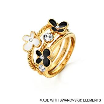 Spring Ring (Jet Black) - Crystals from Swarovski®