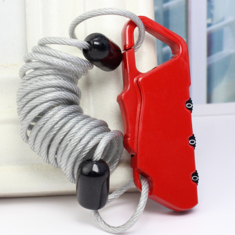 Steel Wire Rope anti-theft retractable extension cable padlockbackpack lock