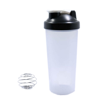 Stylish Smart Shake Gym Protein Shaker Mixer Cup Drink Whisk BottleBlack 600ML