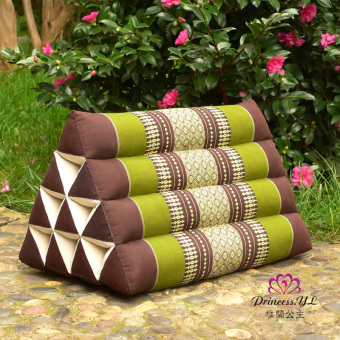 Thailand tatami big back kapok bedside waist cushion sofa livingroom lumbar pillow triangle pillow fabric bedside