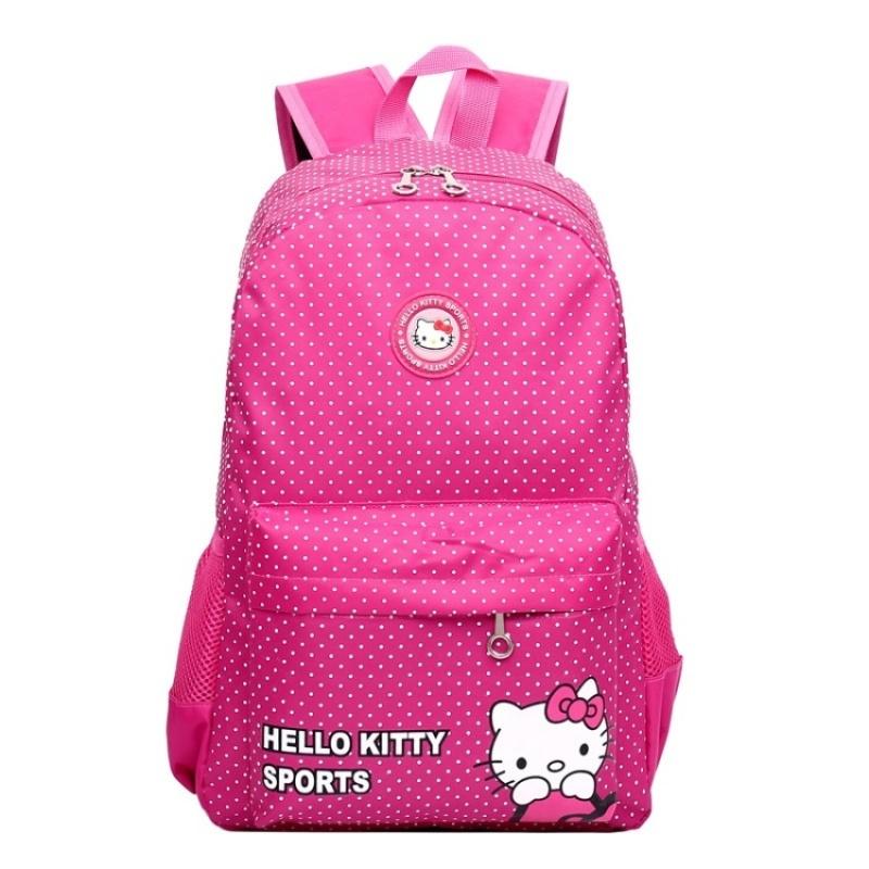 The new HELLO bag KITTY cartoon cute backpack (pink) - intl