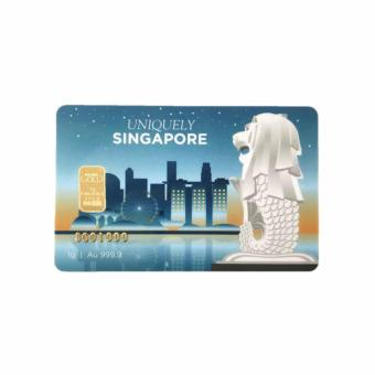 Uniquely Singapore - The Merlion Nadir 1g Gold Bar