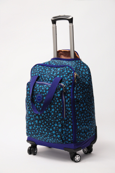 Washed cloth large capacity trolley bag