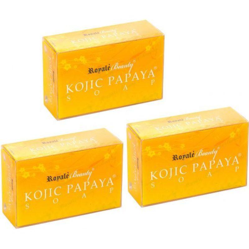 Buy Anti-pimple Anti-Acne Kojic Papaya Soap Set of 3 (130gx3) Singapore