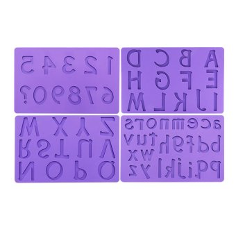 Cake Decorations Letters And Numbers : FM-11 Letters and Numbers Silicone Fondant Mold Cake ...
