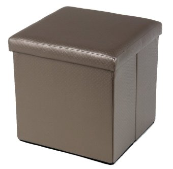 forest 45x45x45cm faux leather collapsible storage