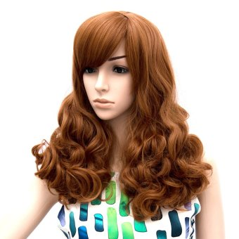 ... Hair Wig with Side Bangs (Reddish Brown) (EXPORT) Lazada Singapore