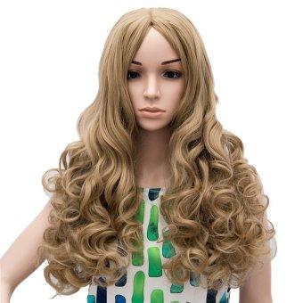 ... Long Curly Loose Full Hair Wig (Brown) (EXPORT) Lazada Singapore
