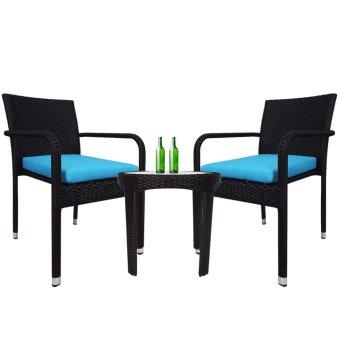 Jardin 2 Chair Patio Set Blue Cushion Lazada Singapore