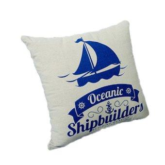 Nautical Sailboat Throw Pillow Cushion Case Cover Export Lazada