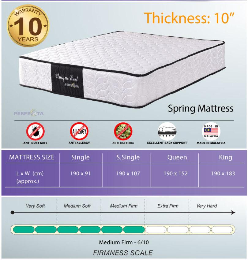 "New Bed set Beige Bed frame and 10"" Spring mattress"