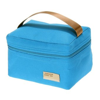 portable insulated thermal cooler bento lunch box tote picnic blue export. Black Bedroom Furniture Sets. Home Design Ideas