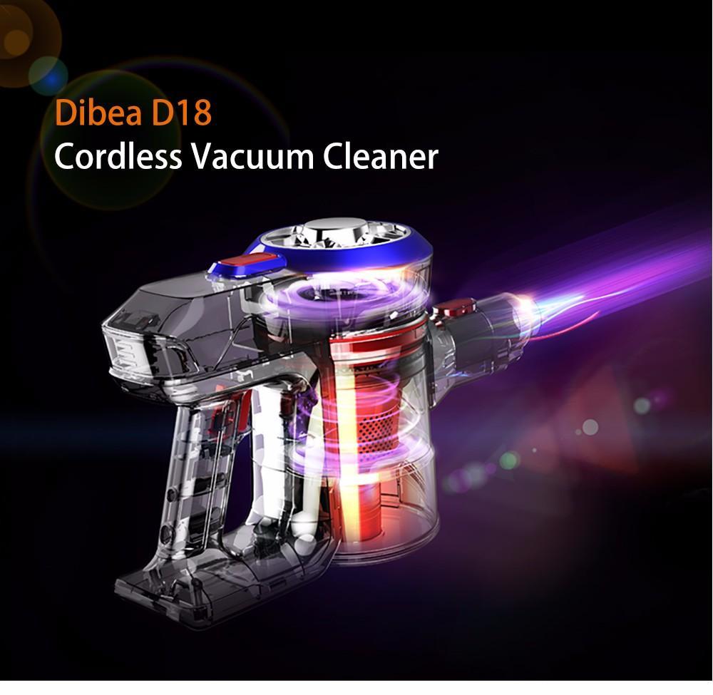 Dibea D18 Lightweight Cordless Handheld Stick Vacuum Cleaner with Motorized Brush