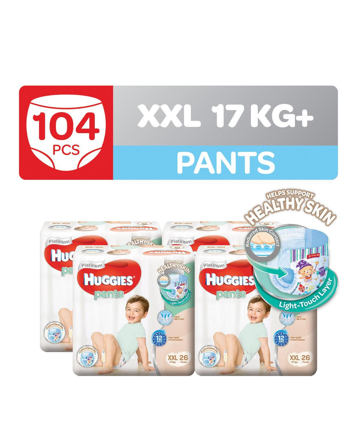 Buying New Huggies Platinum Pants Carton Size Xxl 26 X 4 Packs