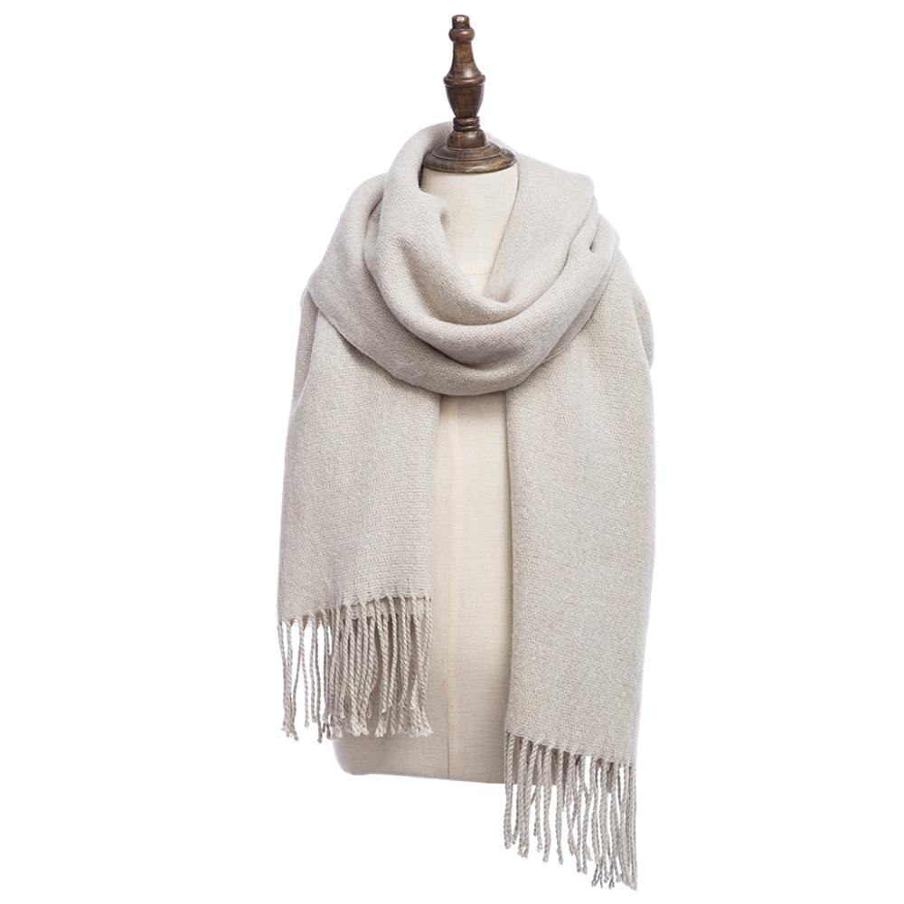 Sh Oversize Solid Color Pashmina Tassel Warm Ladies Scarf Cadetblue Intl Free Shipping