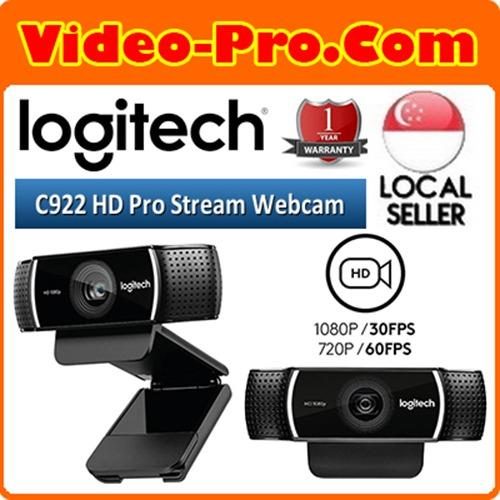 Logitech C922 HD Pro Stream Webcam FULL HD 1080P with 30FPS  with H.264 Recording 960-001090 (1 Year s Warranty)