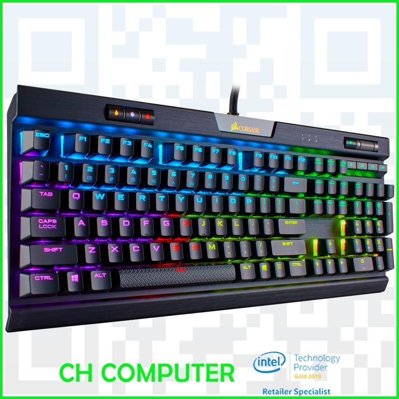 CORSAIR K70 RGB MK.2 Mechanical Gaming Keyboard - Cherry MX Blue Singapore